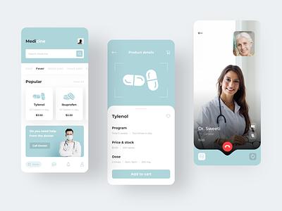 Medicine App medicine app colorful icon app ios home screen design clean ux ui