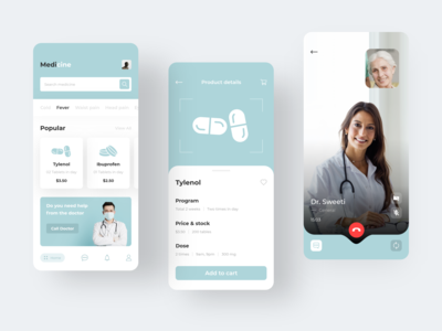 Medicine App medicine app colorful icon app ios home screen design clean ux ui