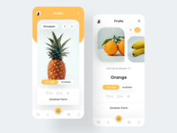 Fruits App fruits icon fruitsapp ios uiux ux ui design colorful