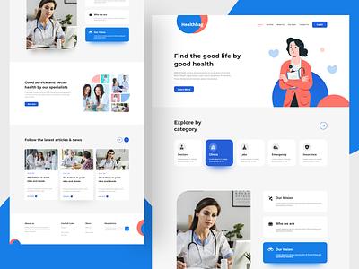Doctor Consultation Website Design health website portfolio minimal website design web design ui uiux webdesign doctor website