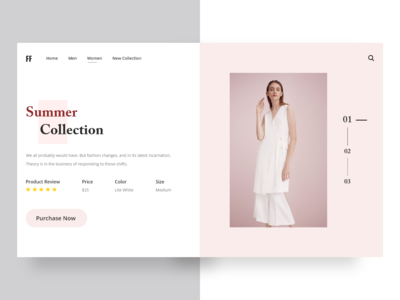 Fashion Clothes Website Landing Page icon branding new collection modern ui deisgn collection store shop clothes layout shopping design clean website web fashion ui  ux ui