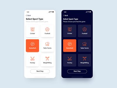 Sport mobile ios design uiux sports sport app ux ui icon