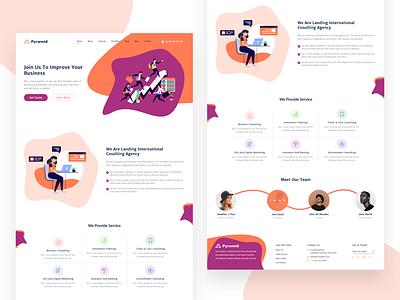 Pyramid web design pyramid consultancy vector icon ui ux web layout website clean design