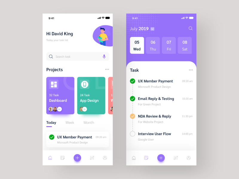 Task app application ui application app design task manager task management task app task clean illustration uiux mobile ios app ux design icon