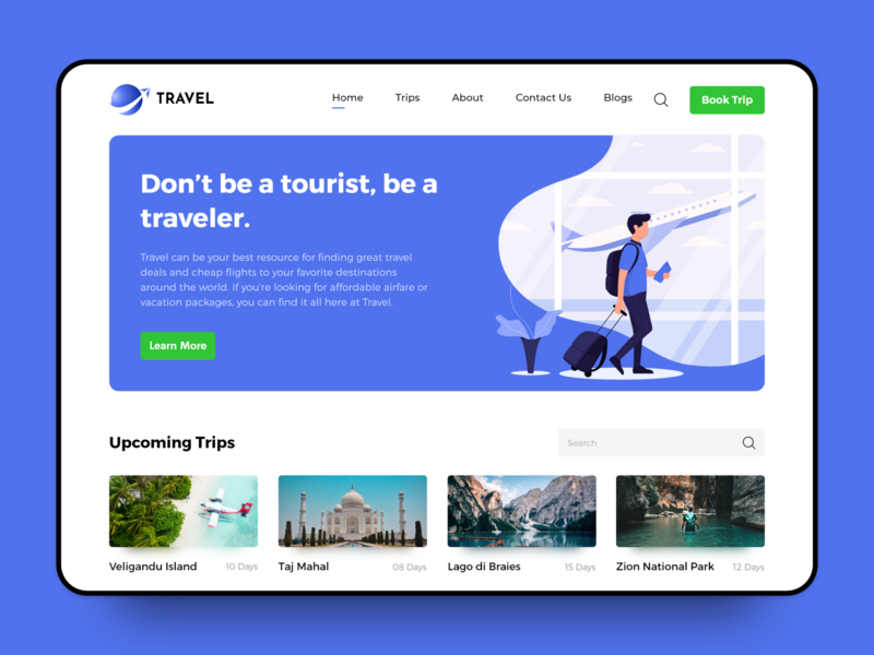 Travel Web Platform Design travel web travelling travel agency webdesign travel website travel clean layout branding web uiux website ux ui icon design