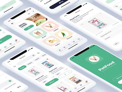 Pet food app mobile petfood petshop feed design ui ux ui app figma