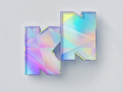 KN glass hologram