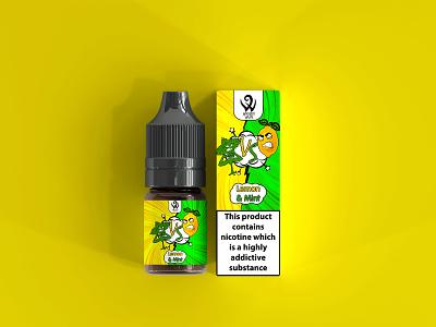 E liquid/vape labels label packaging illustration vector design