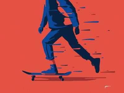 Skateboarding street skateboarding skate poster art illustrator cc vector illustration