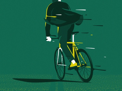 fixie bike greens bike fixie illustrator cc affiche poster art illustration vector