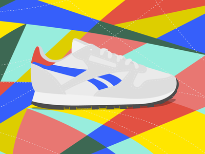 classic graphic vector illustration reebok shoes illustrator cc oldschool illustration vector