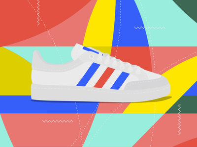 Classic shoes 3 sneakers adidas originals adidas shoes illustrator cc oldschool illustration vector