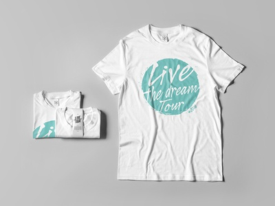 T-shirt Live The Dream Tour