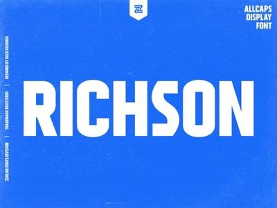 RICHSON urban display font branding fashion shoots display font lettering modern vector minimalist logo designs logo font