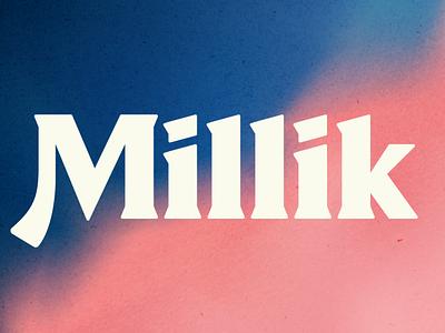 Millik font illustration design typography typeface type design type serif font new font fonts font design display serif display font branding font modern logo