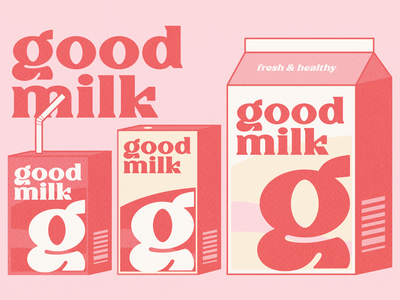 good Milk Illustration vector modern font simple designs minimalist clever logo designs simple flat logo