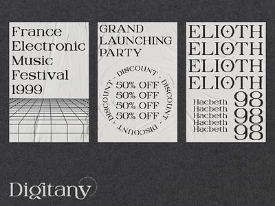 New Font : Digitany lettering shoots font simple designs minimalist clever logo designs simple flat logo