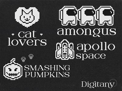Digitany Multipurpose display font display font branding modern lettering font logo designs design simple flat logo