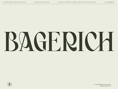 Bagerich Font sans serif typography type serif font new font font display serif display font design branding illustration brand identity logo type design typeface fonts font design