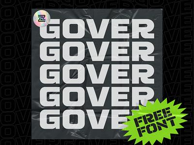 GOVER FREE FONT! ux ui typography branding modern illustration logo designs logo fonts freelancer design