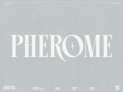 PHEROME MULTIPURPOSE DISPLAY FONT illustration lettering design display font minimalist modern typogaphy typo elegant display branding font