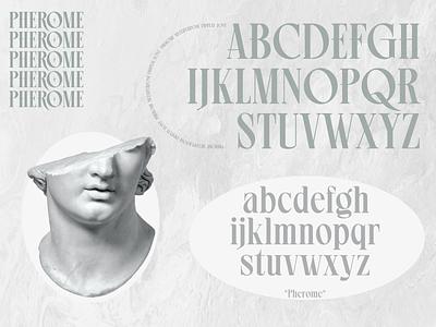 PHEROME MULTIPURPOSE DISPLAY FONT type serif font illustration display font branding minimalist modern font design typo lettering wordmark typeface display font