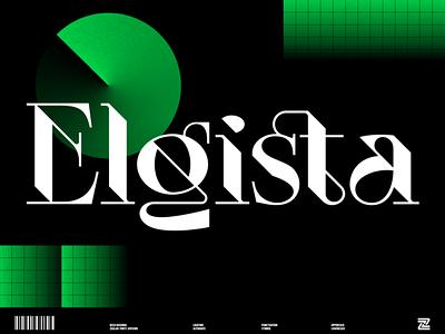Elgista - Display Font type simple display font typeface minimalist modern lettering logo designs logo font