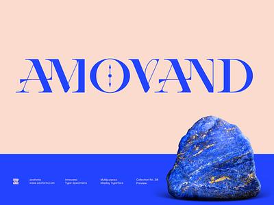 AMOVAND Multipurpose Display Font magazine headline lettering type typeface ui illustration design display font branding minimalist modern logo designs logo font