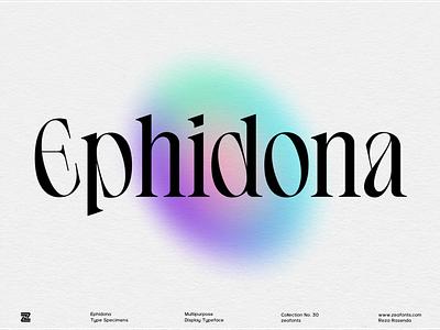 Ephidona Typeface logotype wordmark typography typeface ui illustration design branding modern minimalist logo designs display font logo font