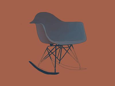 Eames Plastic Chair furniture charles eames digital drawing