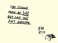 The client may be king but not the art director