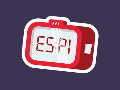 Sticker Alarm Clock berlin design night alarm clock illustration 2d edenspiekermann sticker