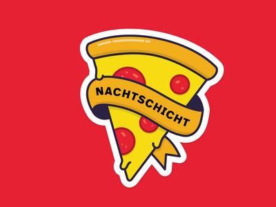 Sticker Pizza berlin design night illustration 2d edenspiekermann postcard pizza sticker