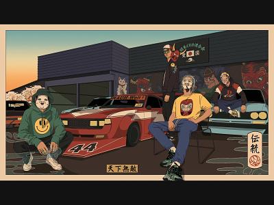 - Bosozoku Gang - poster art poster illustration art characterdesign design illustration