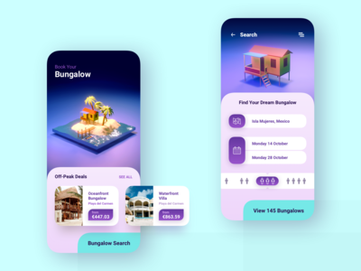 Bungalow Booking Mobile App