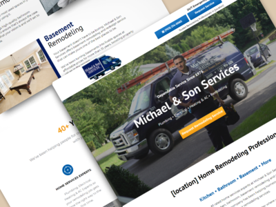 Michael & Son | Remodeling Landing Page 🔧