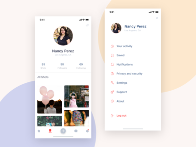 Profile and settings Screen (GOLO)