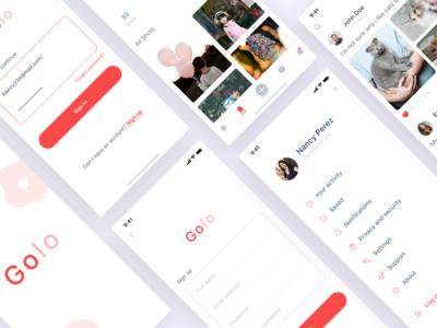 Social media app (GOLO)