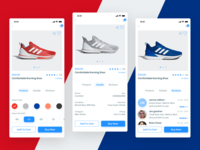 E-commerce app (product, details, reviews screens)