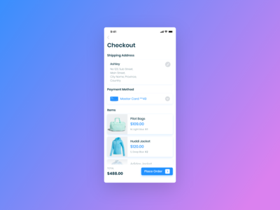 E-Commerce App  (Checkout Screen)