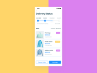 E-Commerce App  (Delivery Status screen)