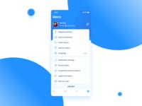 E-Commerce App  (More & profile screen)