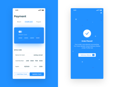 E-Commerce App (payment screen)