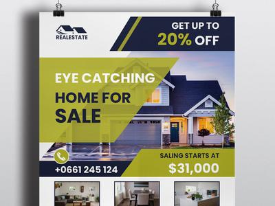Home Sale Creative Flyer Design Template