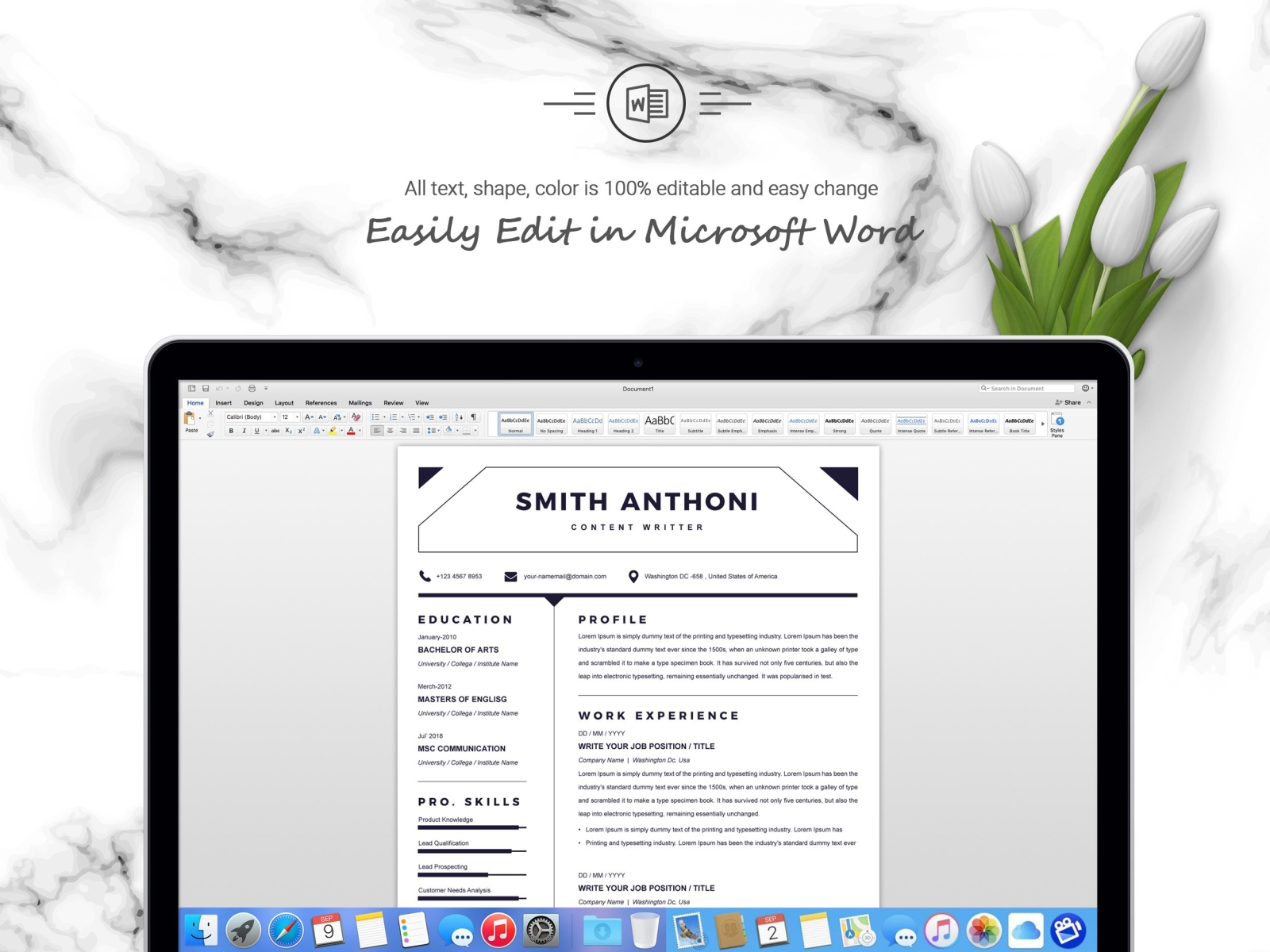 Simple Clean Word Resume Template By Resume Templates On Dribbble