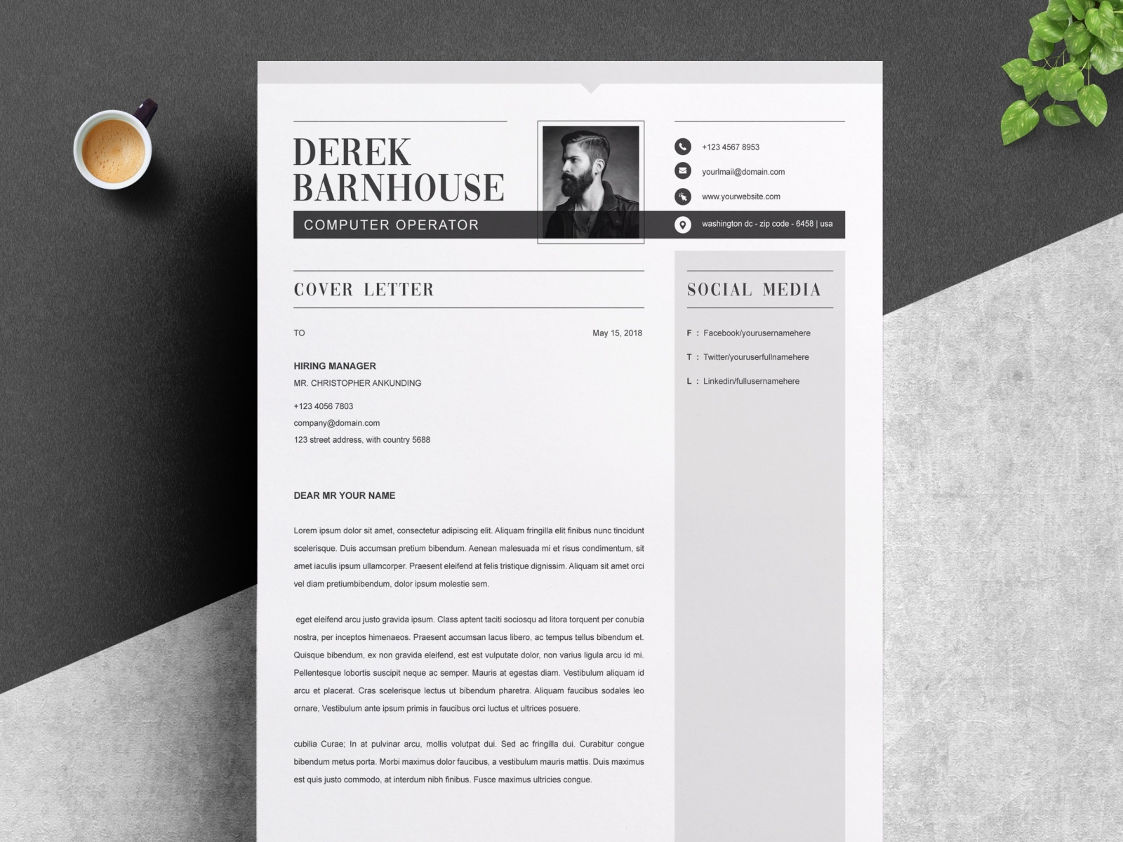 Resume Template Word By Resume Templates On Dribbble