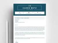 Resume Template | Cover Letter, Word