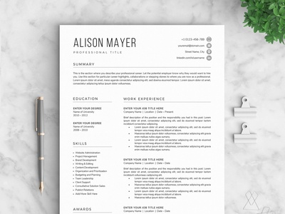 Resume/CV - The Mayer