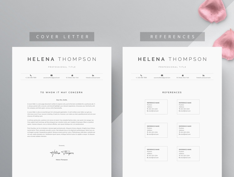 Word Resume Cover Letter Template By Resume Templates On Dribbble