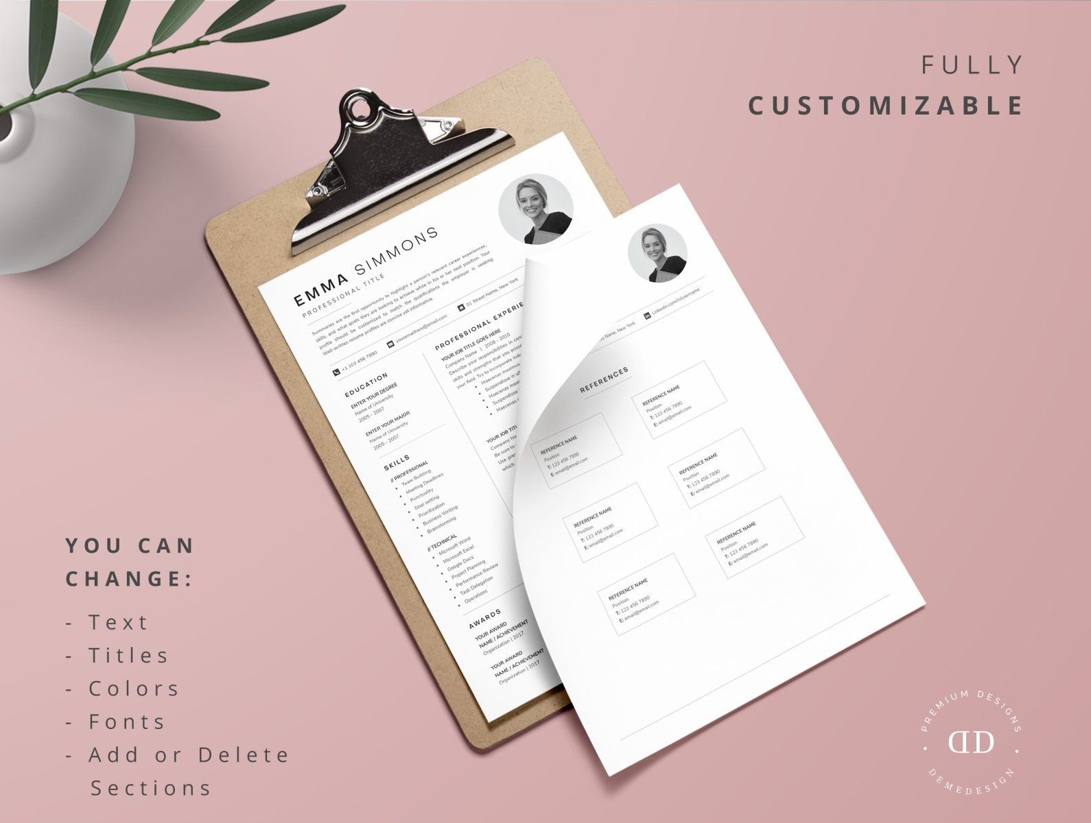 Compact Resume Template from cdn.dribbble.com